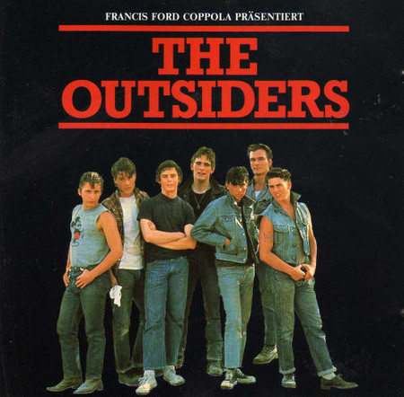 The movie poster for the outsiders