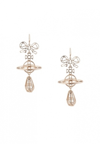 【LASO ラソ】2013/SS ■ Vivienne West Wood ■THIN LINES 3D ORB BOW EARRINGS ヴィヴィアンウエストウッド