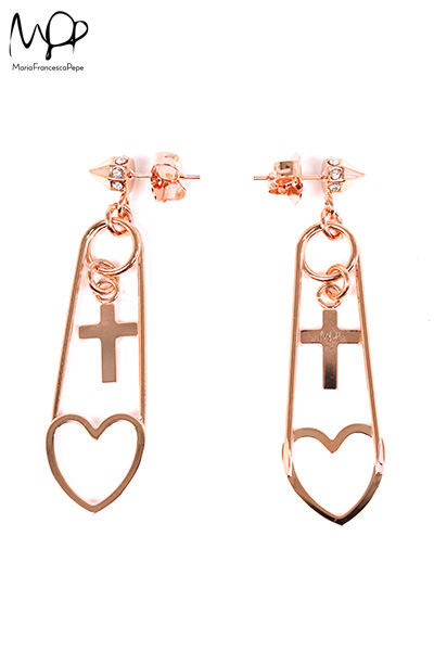 【Maria Francesca Pepe】PAIR OF EARRINGS WITH HEART PENDANTS | LADY'S | ACCESSORY | FAKE TOKYO.com