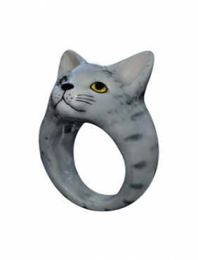 Grey Cat Ring B-18 : Nach Jewellery