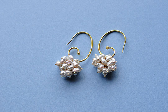 Keshi Pearl Cluster Earrings - SOURCE objects