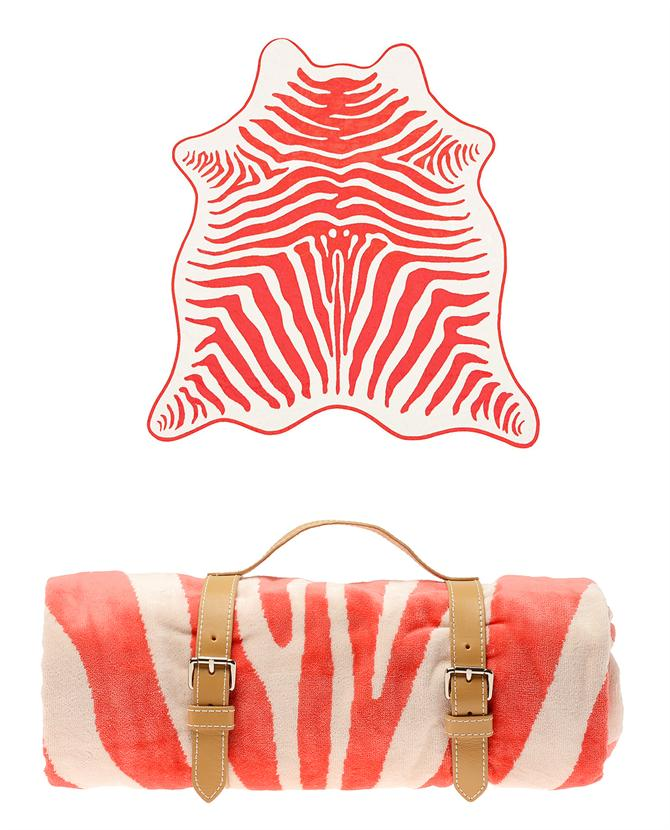 Browns fashion & designer clothes & clothing | MASLIN | Zebra hide towel with leather holster