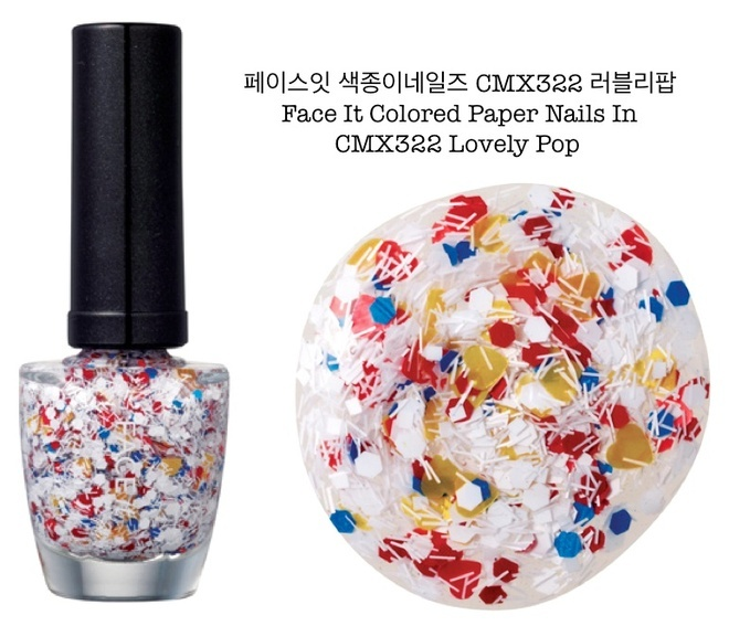 """The Face Shop """"Colored Paper"""" Polish in Lovely Pop 