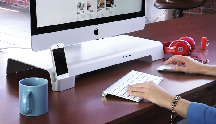 UNITI Stand: For iMacs & Apple Displays. Organize your Desk. by iForte — Kickstarter