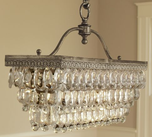 Pottery barn clarissa glass drop rectangular chandelier sumally clarissa glass drop rectangular chandelier pottery barn mozeypictures Gallery