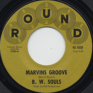 B.W. Souls / Marvins Groove c/w Generated Love (7inch), Round | 中古レコード通販 大阪 Root Down Records. Catalog