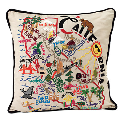 HAND EMBROIDERED STATE PILLOWS   new york pillow, texas   UncommonGoods