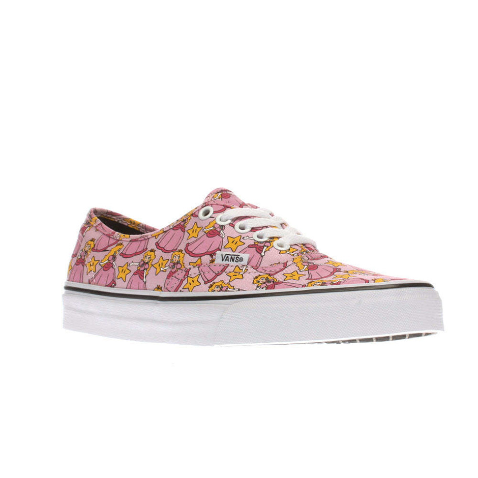 Womens Pale Pink Vans Authentic Nintendo Princess Peach Trainers