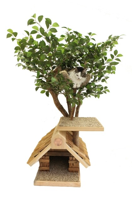 Sapling small Cat Tree House by PetTreeHouses on Etsy