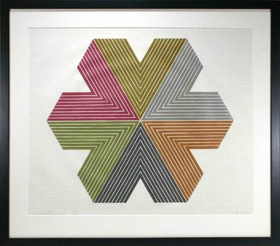 1967 RARE Frank Stella Signed Numbered Star of Persia I Lithograph Framed | eBay