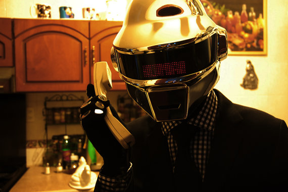 Daft Punk Thomas Helmet complete outfit by MazPowerProps on Etsy