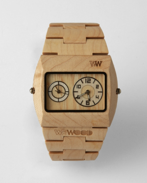 tick and tock / wood watch