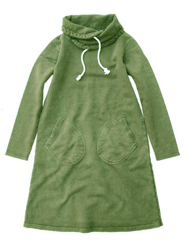 GOOD ON / ROLL NECK SWEAT ONE PIECE(PIGMENT DYE)