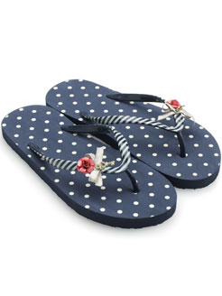 Key to my Heart Polka Dot Plastic Flip Flop at Accessorize