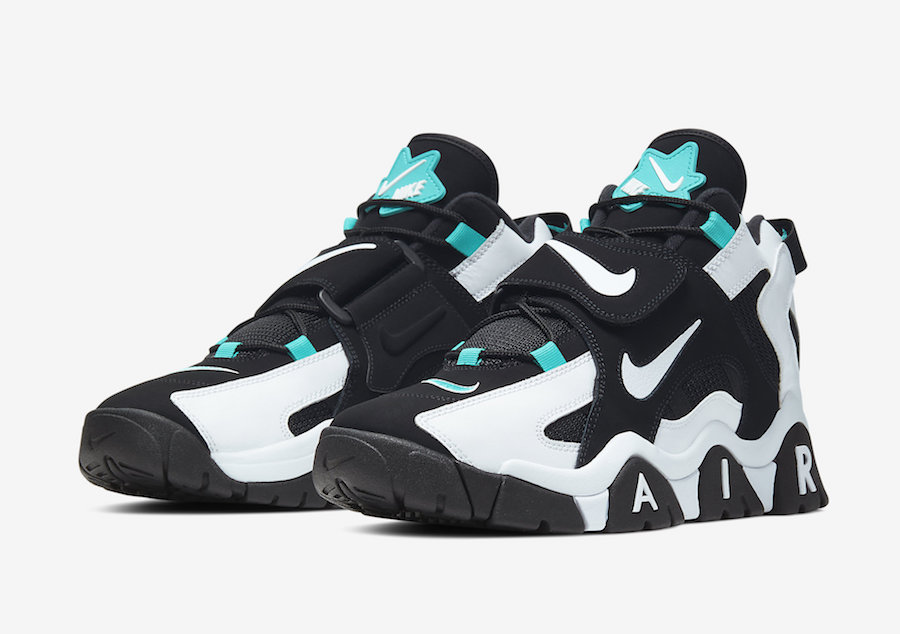 Nike Air Barrage Mid Black White Cabana AT7847-001 Release Date - SBD