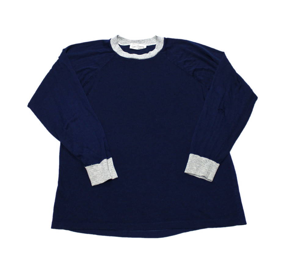 Vintage 80s Sears Roebuck and Co Navy Long Sleeve Shirt Mens Large | Vintage Mens Goods