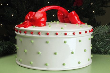 Amazon.com: Patience Brewster Krinkles Dressed Up Christmas Cake Plate Dome: Home & Garden