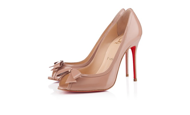 MILADY PATENT 100 mm, Patent leather, NUDE, Women Shoes.