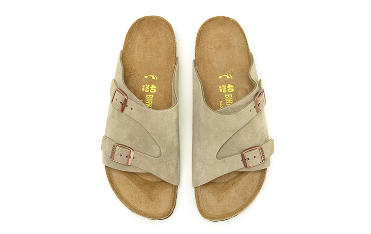 BIRKENSTOCK/Zurich Suede Leather-Taupe