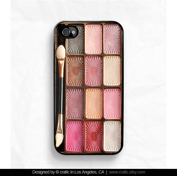 Eyeshadow Makeup Set iPhone 4s & 4 Case by CRAFIC on Etsy