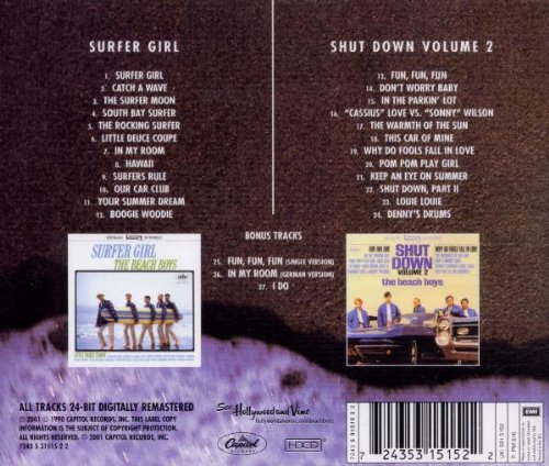 Amazon.com: Surfer Girl/Shut Down, Vol. 2: The Beach Boys: Music
