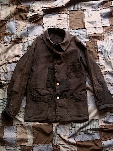 GERALD/ERA blog : France / 20s-30s patchwork moleskin jacket