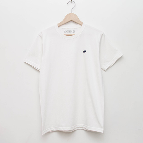 Basic Tee - White - cup and cone WEB STORE