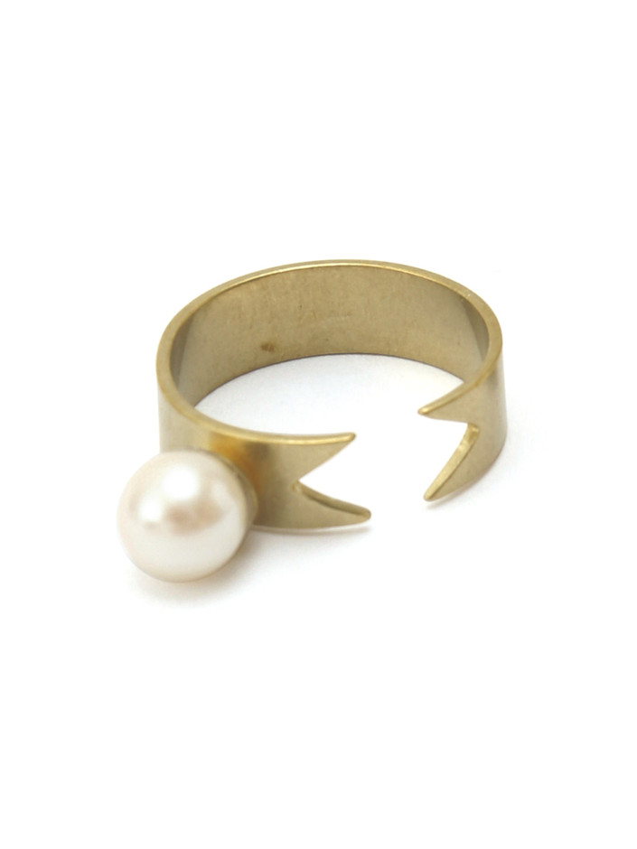 roomsSHOP|Aquvii| pearl ribbon ring aq-23|リング | Accessories & Goods(あくせさりーあんどぐっず) | H.P.F.MALL