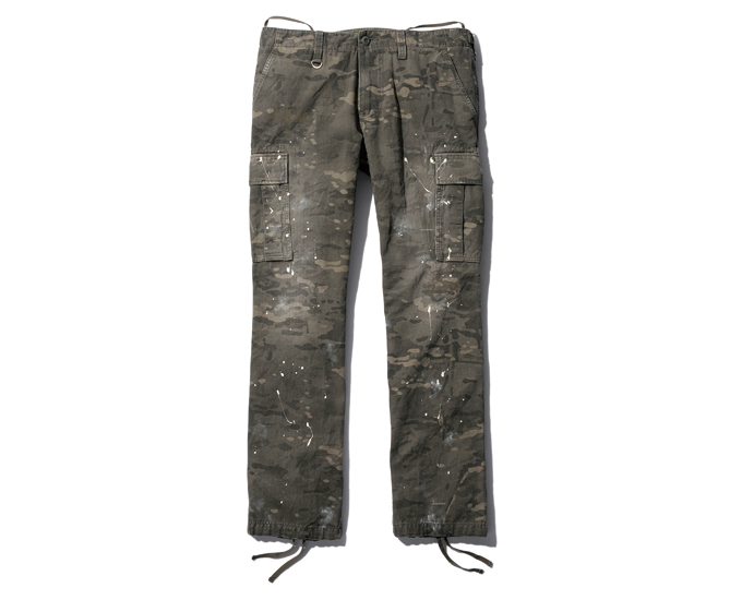 SOPHNET. | PRODUCT | CAMOUFLAGE HERRINGBONE PAINTED TIGHT FIELD PANT