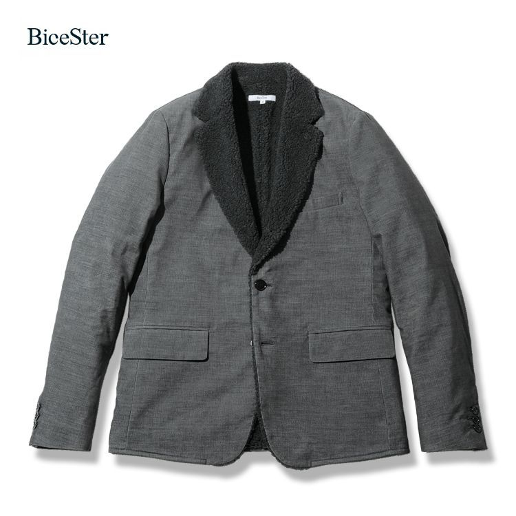 Bicester Boa Corduroy 3B Tailored Jacket -Gray -BS-13107 | BiceSter (ビスタ) 通販