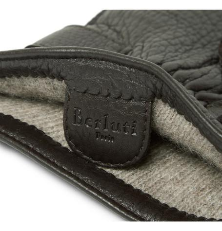 Berluti - Cashmere-Lined Full-Grain Leather Gloves