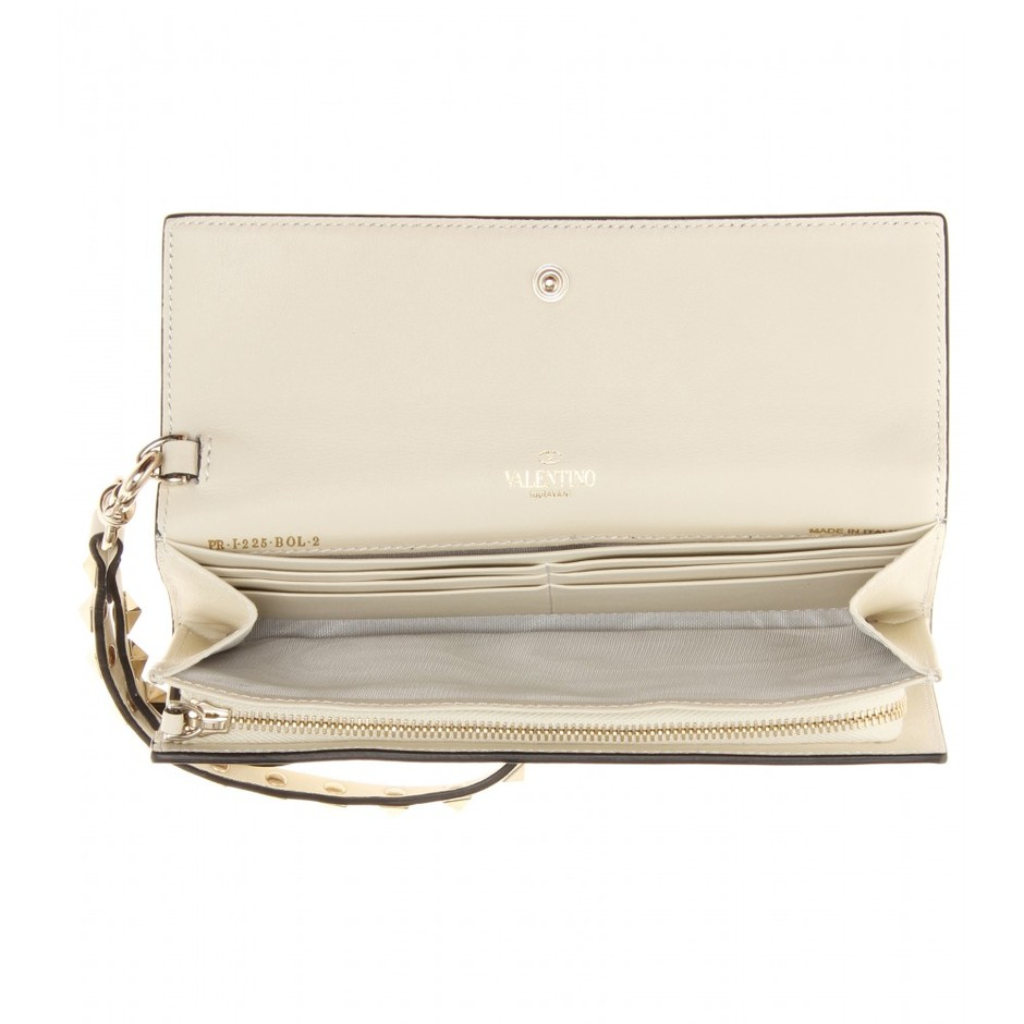 mytheresa.com - Rockstud leather wallet - Clutch bags - Bags - Valentino - Luxury Fashion for Women / Designer clothing, shoes, bags