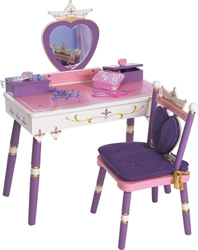 Amazon.com: Levels of Discovery Princess Vanity Table and Chair Set: Toys & Games