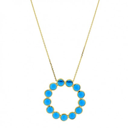 Circle of Life Necklace Blue - Necklaces
