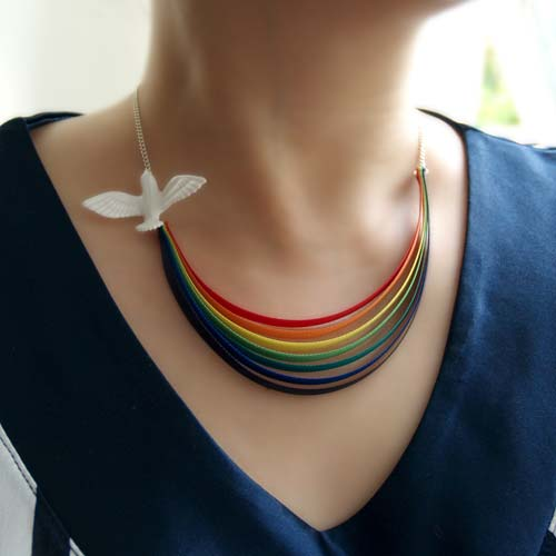 .: NOA DESIGN :. Online Shop HERE COMES THE SUN rainbow necklace