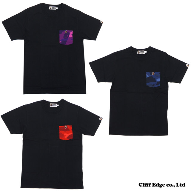 【楽天市場】A BATHING APE COLOR CAMO POCKET TEE [Tシャツ] 200-005558-043[1080-109-007]-【新品】:Cliff Edge