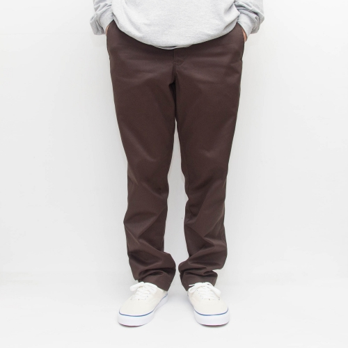 Custom Fit Chino Pants - Brown - cup and cone WEB STORE