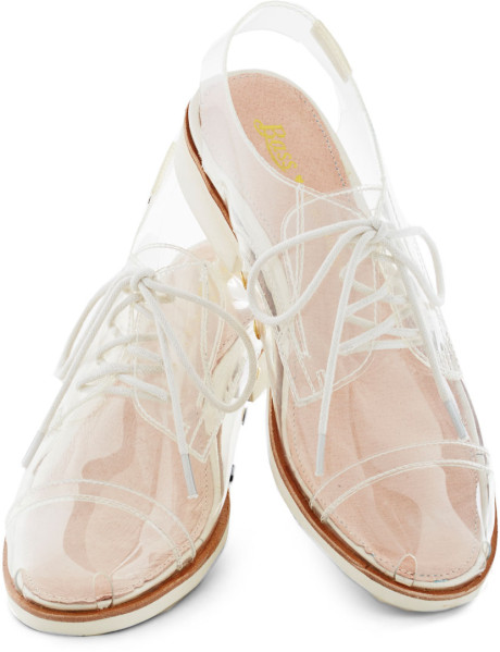 Bass Rachel Antonoff For Clear and Far Flat in (white) | Lyst