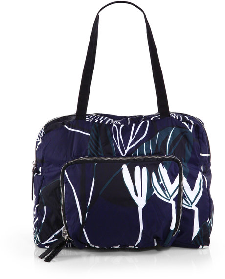 Marni Printed Nylon Tote in Blue (INK) | Lyst