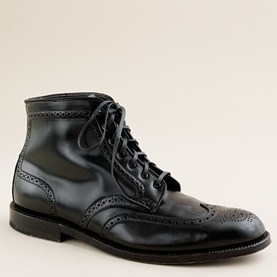 Men's new arrivals - shoes - Limited-edition Alden® for J.Crew cordovan wing tip boots - J.Crew