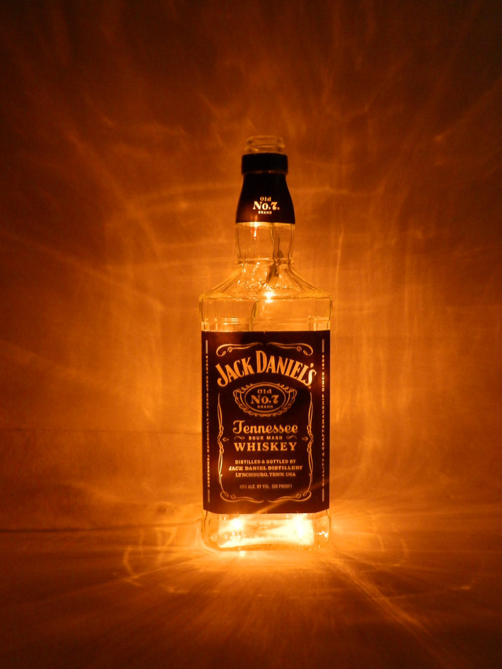 Jack Daniels Tennessee Whiskey Lighted Bottle Bar by BoMoLuTra