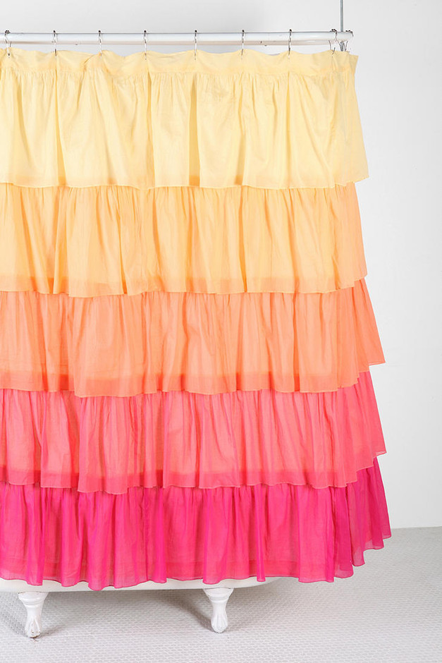 Urban Outfitters - Ombre Ruffle Shower Curtain