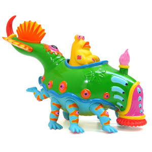 STRANGEco : Designer Toys, Art and Features : Mr. Bumper - Green by Jim Woodring