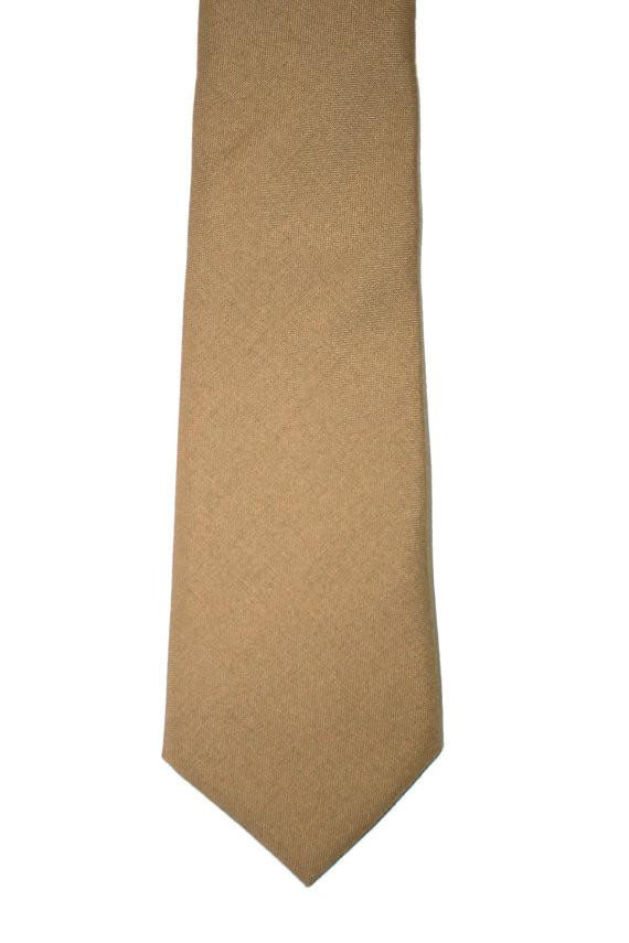 Vintage Mens Authentic Military Issued Tan Necktie available at Vintage Mens Goods. | vintagemensgoods