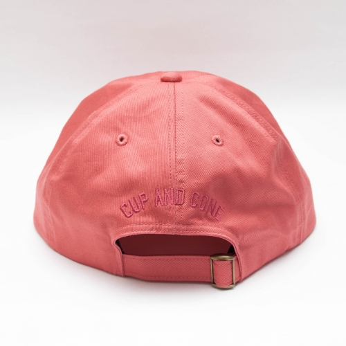 Six Panel Cap - Coral - cup and cone WEB STORE