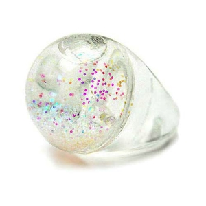 Fireworks Gallery - Jewelry - Trend & Fashion - Rings - Snow Globe Ring - Iridescent