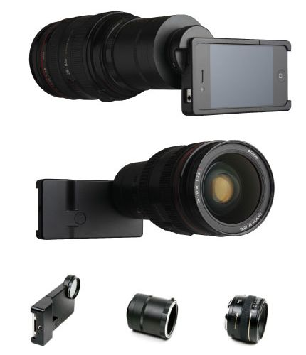 The iPhone SLR Mount. Yes, it's really real.