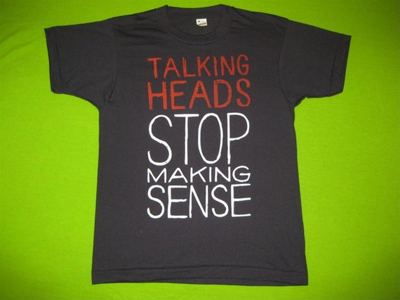 Vintage TALKING HEADS 80s SHIRT concert tour by rainbowgasoline