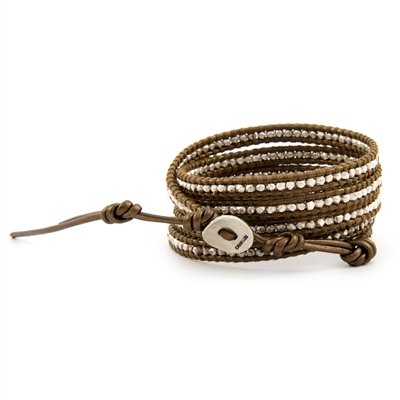 Bracelets > Sterling Silver Wrap Bracelet on Kansa Leather | Chan Luu