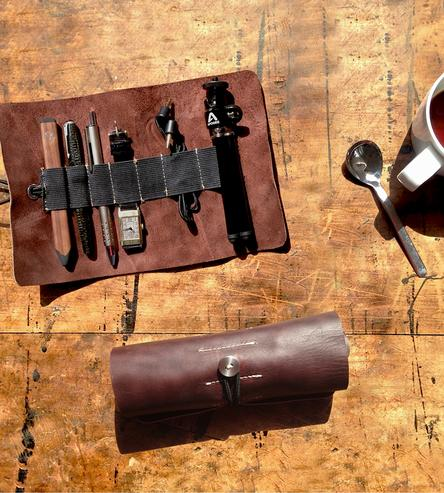 Leather Tool Roll | Men's Wallets & Bags | Onehundred | Scoutmob Shoppe | Product Detail